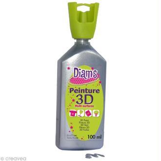Peinture 3D Diam's 100 ml - Nacré argent