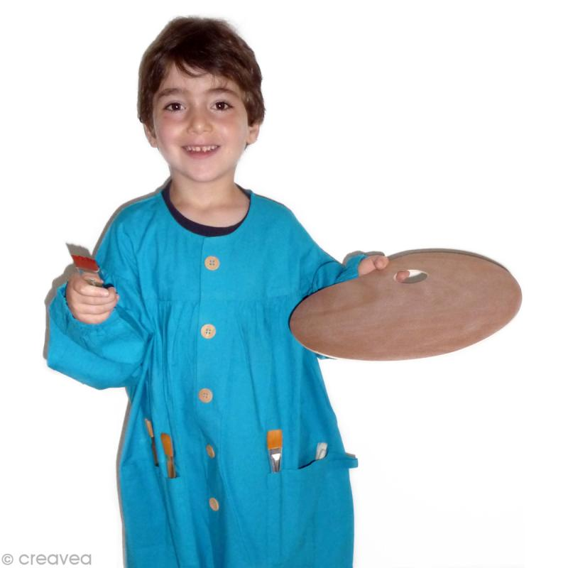 blouse de peinture enfant bleu 5 10 ans mat riel de peinture enfant creavea. Black Bedroom Furniture Sets. Home Design Ideas