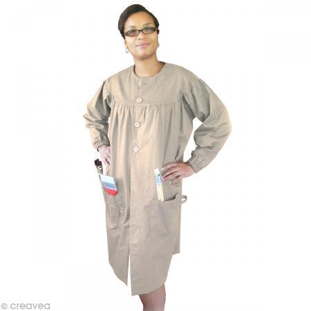 Blouse de peinture adulte Beige - Taille unique femme - OZ International