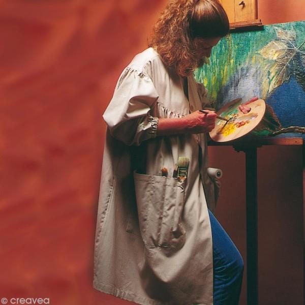 Blouse de peinture adulte Beige - Taille unique femme - Photo n°2
