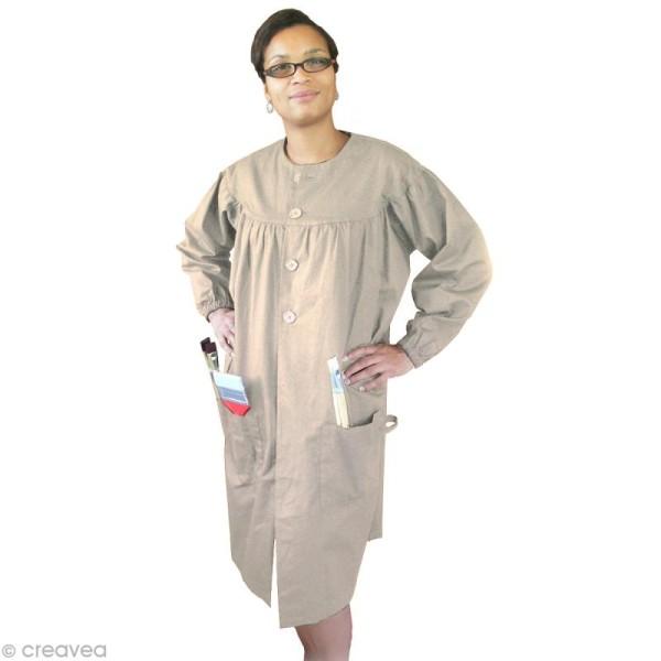 Blouse de peinture adulte Beige - Taille unique femme - Photo n°1