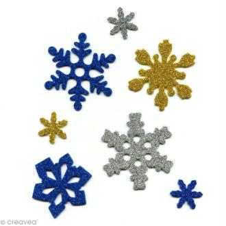 Flocon de neige papier mousse - Assortiment x 240