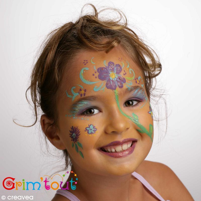 Pochoir maquillage adh sif grim 39 tout f e clochette pochoir maquillage creavea - Modele maquillage carnaval facile ...