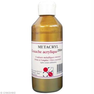 Gouache métallique Metacryl - Or antique - 250 ml