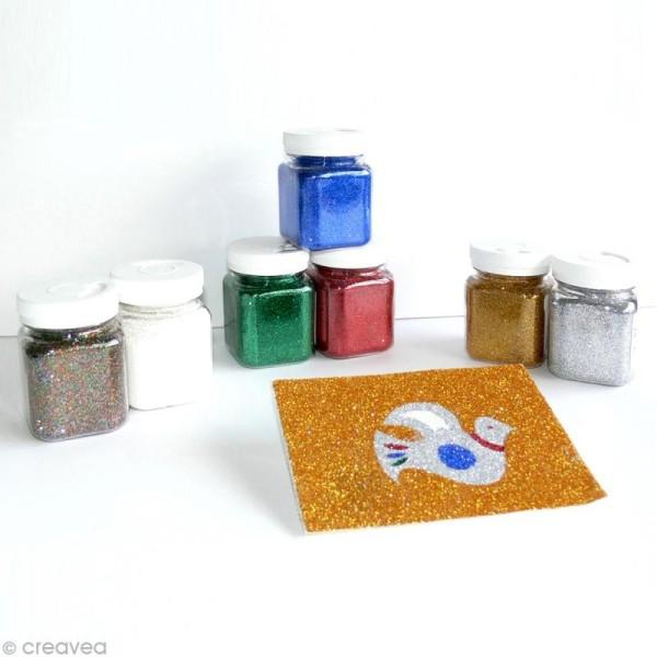 Pot poudre de paillettes - Argent - 115 gr - Photo n°2