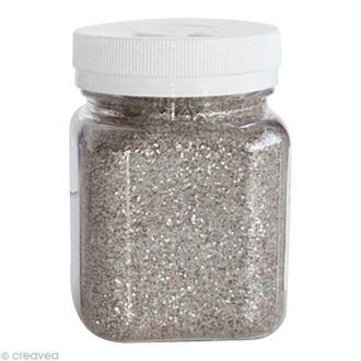 Pot poudre de paillettes - Argent - 115 gr