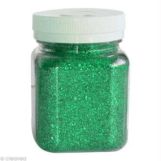 Pot poudre de paillettes - Vert - 115 gr
