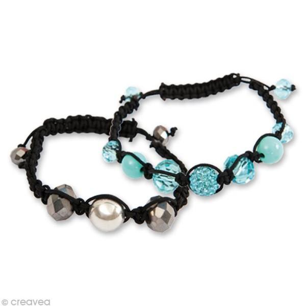 Kit Shamballa bracelet Rose - 3 bracelets - Photo n°4