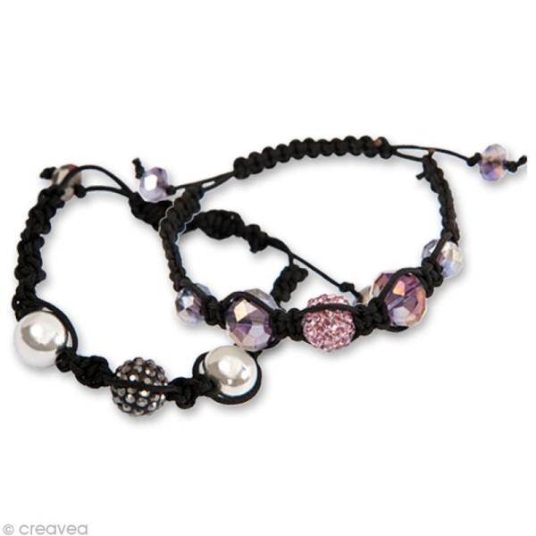 Kit Shamballa bracelet Rose - 3 bracelets - Photo n°5
