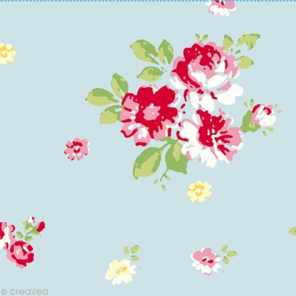 Set Scrapbooking - Cartes Patchwork Family - Fleurs et Petits pois - 5 motifs 20,7 x 14,7 cm - Photo n°2