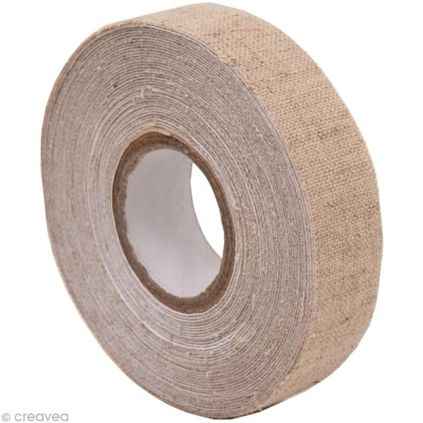 Fabric Tape - Patchwork Family - Lin Beige - 15 mm x 5 m - Photo n°1