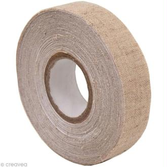 Fabric Tape - Patchwork Family - Lin Beige - 15 mm x 5 m