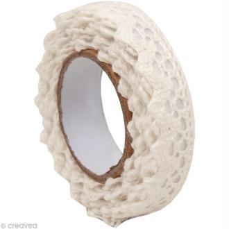 Fabric Tape - Patchwork Family - Galon Blanc 1 - 15 mm x 2,5 m