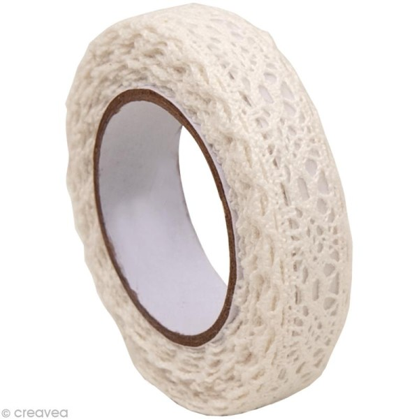 Fabric Tape - Patchwork Family - Galon Blanc 2 - 15 mm x 2,5 m - Photo n°1