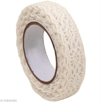 Fabric Tape - Patchwork Family - Galon Blanc 2 - 15 mm x 2,5 m