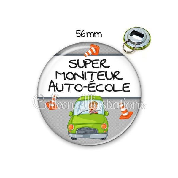 Décapsuleur 56mm Super Moniteur Auto école Porte Clés Porte Clefs Décapsuleur Creavea