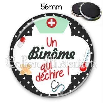 Magnet 56mm Binome qui déchire