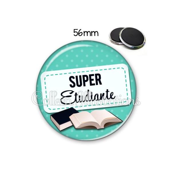 Magnet 56mm Super étudiante - Photo n°1