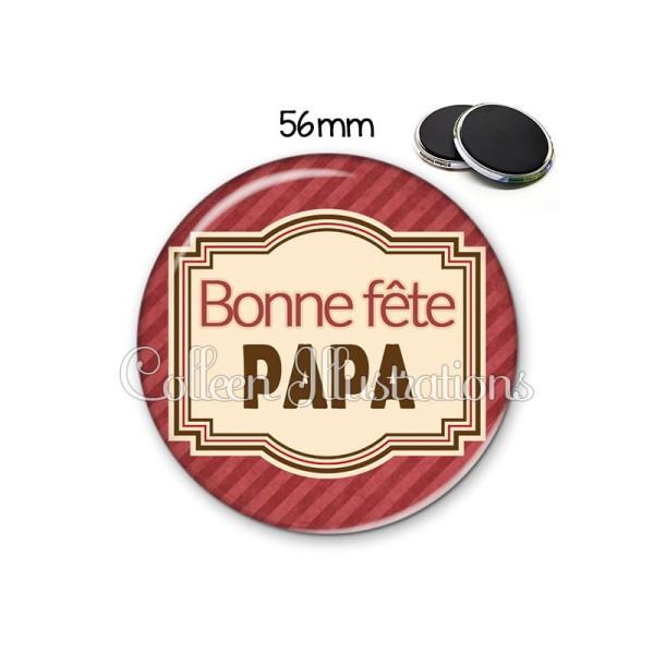 Magnet 56mm Bonne fête papa - Photo n°1