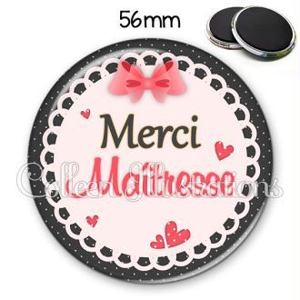Magnet 56mm Merci maîtresse