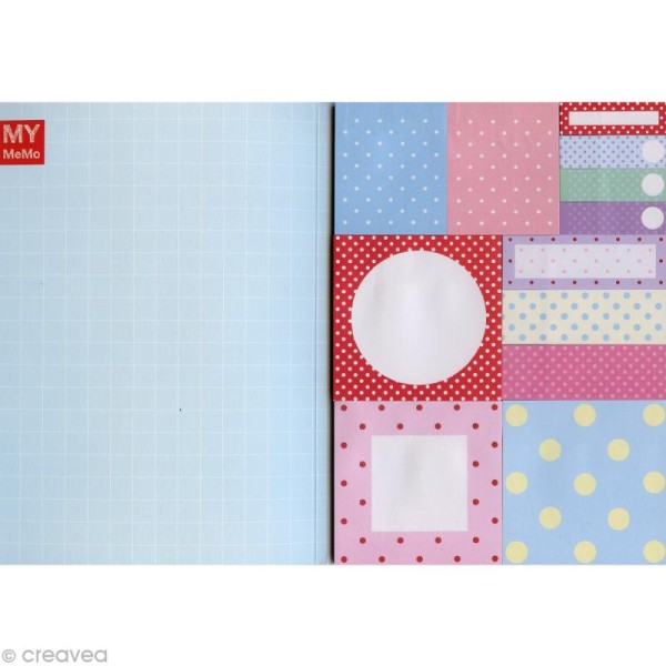 Carnet de notes adhesives fantaisies Sticky notes - Pois x 480 - Photo n°1