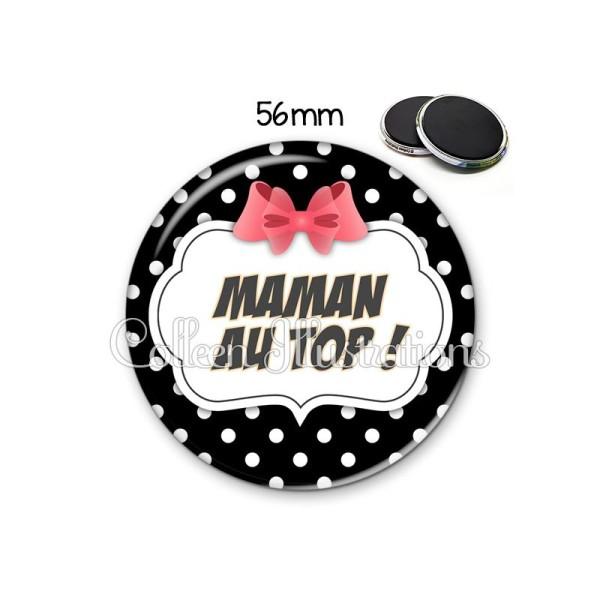 Magnet 56mm Maman au top - Photo n°1