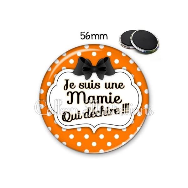 Magnet 56mm Mamie qui déchire - Photo n°1