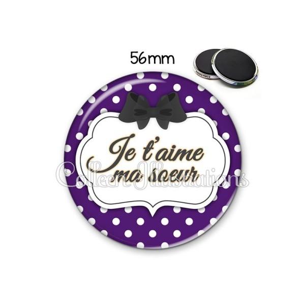 Magnet 56mm Ma soeur je t'aime - Photo n°1