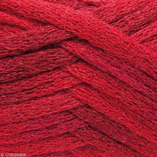 Laine écharpe Cancan disco - Rouge 100 g - Photo n°3