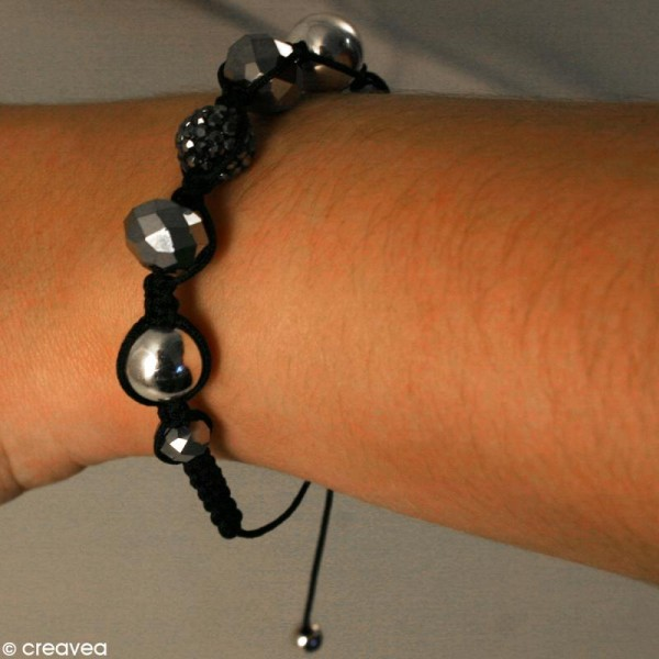 Perle hématite 8 mm x 25 - Photo n°2