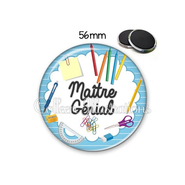 Magnet 56mm Maître génial - Photo n°1
