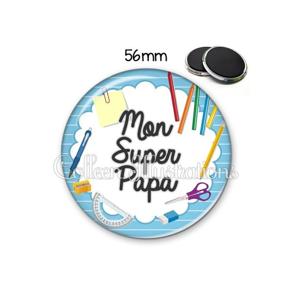 Magnet 56mm Super papa - Photo n°1