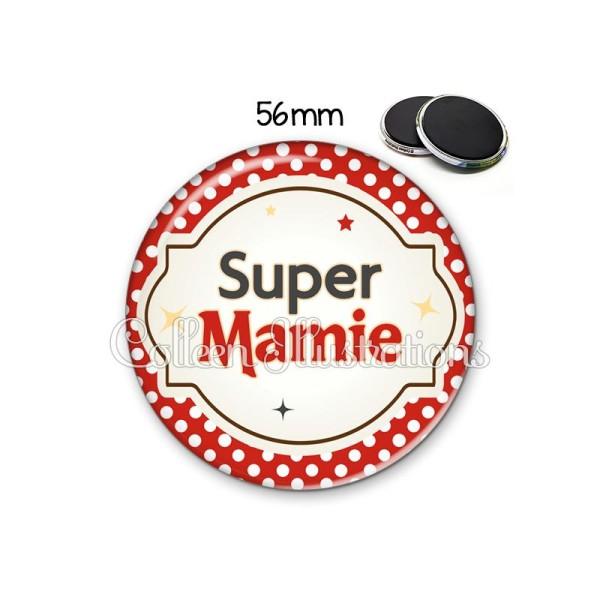 Magnet 56mm Super mamie - Photo n°1