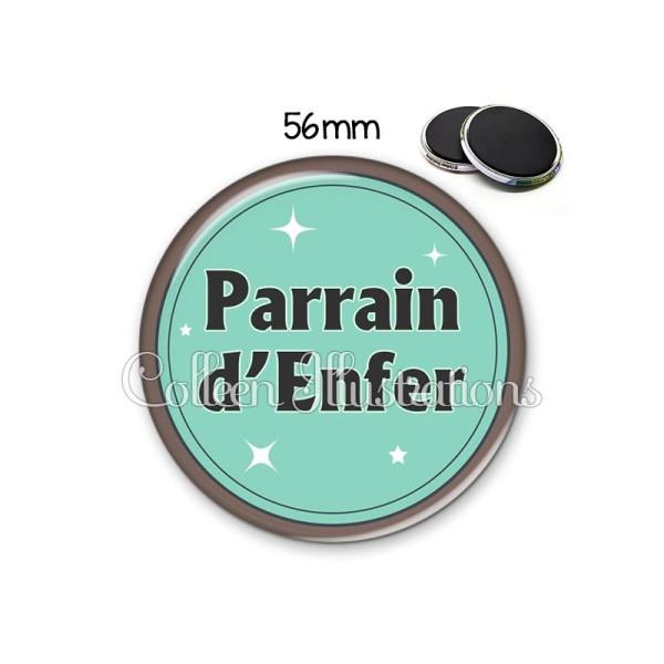 Magnet 56mm Parrain d'enfer - Photo n°1