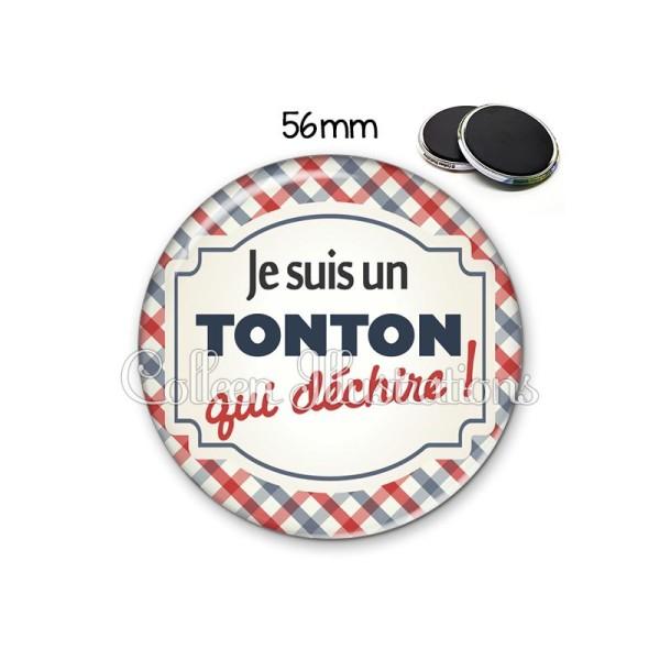 Magnet 56mm Tonton qui déchire - Photo n°1