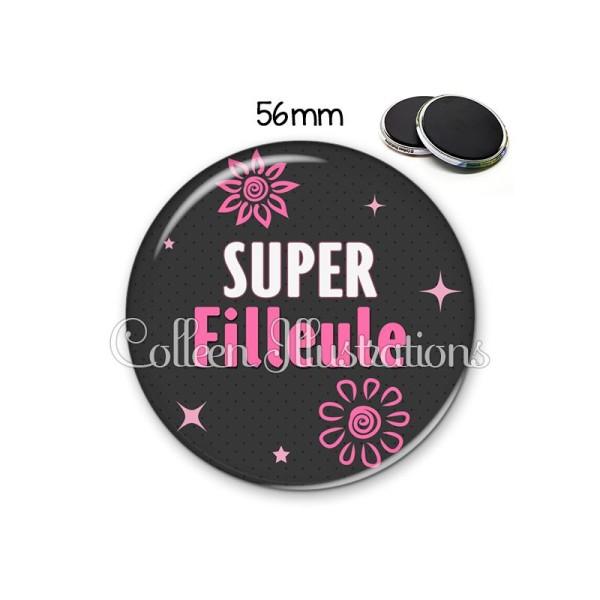 Magnet 56mm Super filleule - Photo n°1