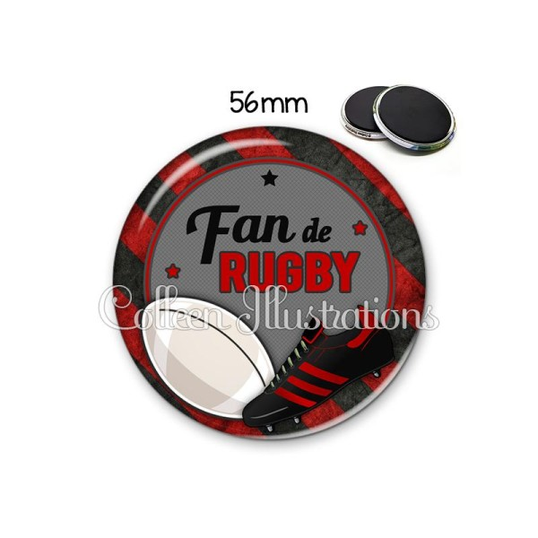 Magnet 56mm Fan de rugby - Photo n°1