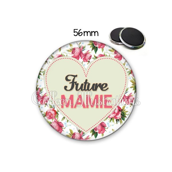 Magnet 56mm Future mamie - Photo n°1