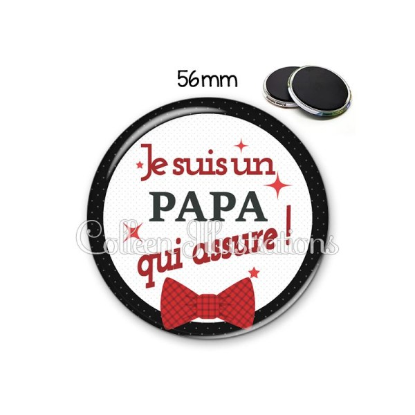 Magnet 56mm Papa qui assure - Photo n°1