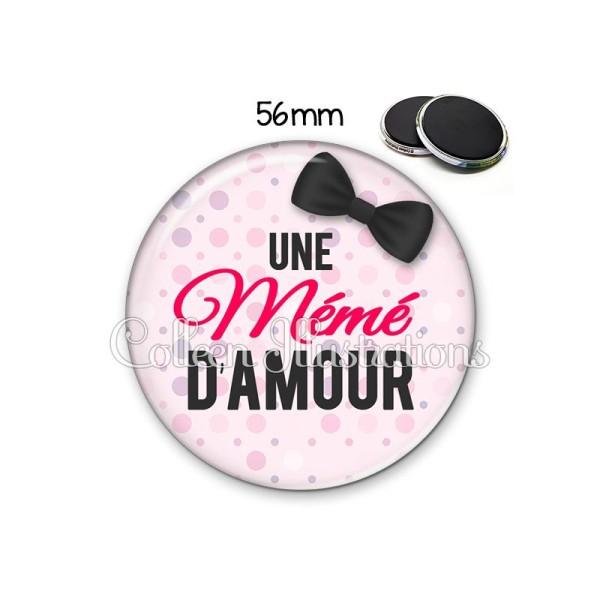 Magnet 56mm Mémé d'amour - Photo n°1