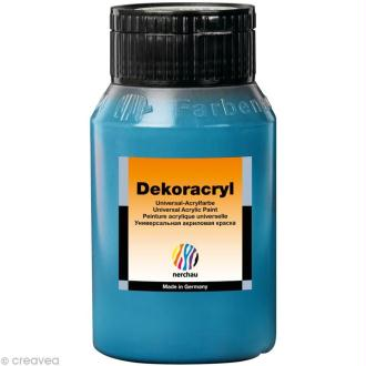 Peinture Acrylique Brillante - Dekoracryl Bleu Ceruleum 750 ml