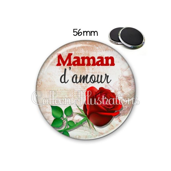 Magnet 56mm Maman d'amour - Photo n°1