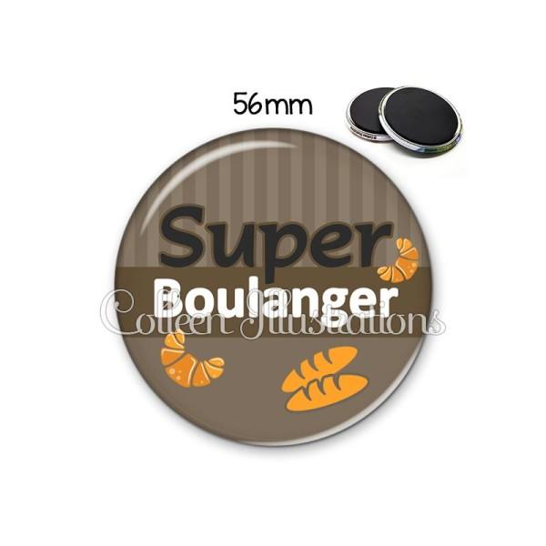 Magnet 56mm Super boulanger - Photo n°1