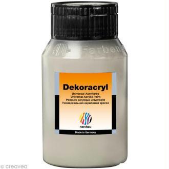 Peinture Acrylique Brillante - Dekoracryl Argent 750 ml