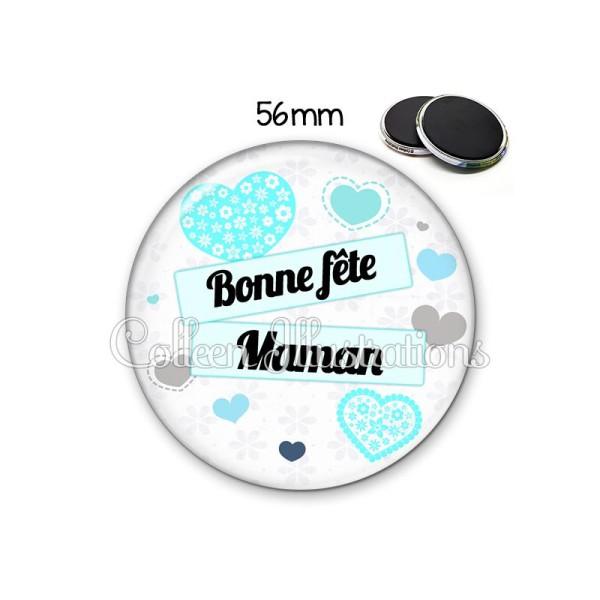 Magnet 56mm Bonne fête maman - Photo n°1