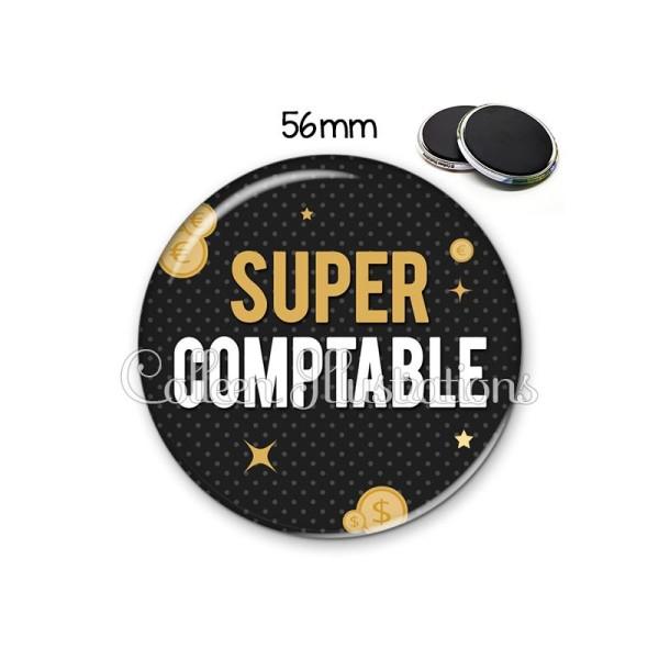 Magnet 56mm Super comptable - Photo n°1