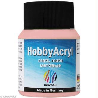 Peinture Acrylique Mate - Hobby Acryl Rose - 59 ml