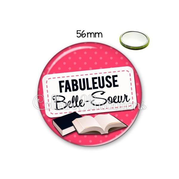 Miroir 56mm Belle-sœur fabuleuse - Photo n°1