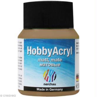 Peinture Acrylique Mate - Hobby Acryl Bronze Argenté - 59 ml