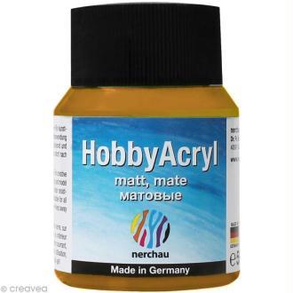 Peinture Acrylique Mate - Hobby Acryl Or - 59 ml
